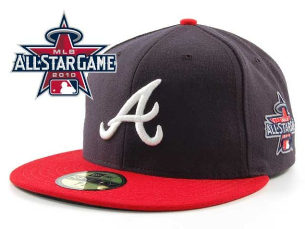 Atlanta Braves 2010 MLB All Star Fitted Hat Sf02